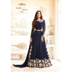 4603 BLUE MAISHA ZARI WEDDING WEAR SLIT STYLE ANARKALI DRESS