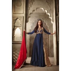3505 NAVY BLUE AND GOLD MAISHA MASKEEN ASTER PARTY WEAR SUIT