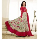 5735 RED KASEESH PRACHI GALAXY DESIGNER ANARKALI DRESS