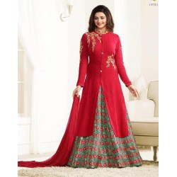 5732 RED AND GREY KASEESH PRACHI GALAXY DESIGNER ANARKALI DRESS