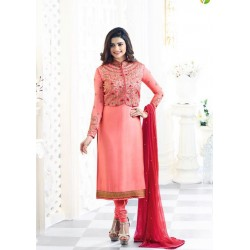 PINK KASEESH MAHARANI JACKET STYLE PARTY WEAR SUIT