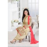 5015 BEIGE KASEESH PRACHI GEORGETTE PARTY WEAR SALWAR KAMEEZ SUIT