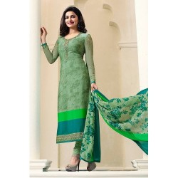 4564 GREEN KASEESH SILKINA ROYAL CREPE PARTY WEAR SUIT