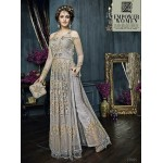 22005 SILVER ZOYA CELEBRITY HEAVY EMBROIDERED INDIAN BRIDAL WEDDING LEHENGA