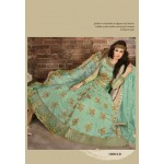 18004-D LIGHT BLUE ZOYA EMERALD COLORS MAGIC HEAVY EMBROIDERED DRESS